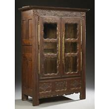 GORGEOUS French Nicely Carved Oak Armoire or Bookcase, 18th century style