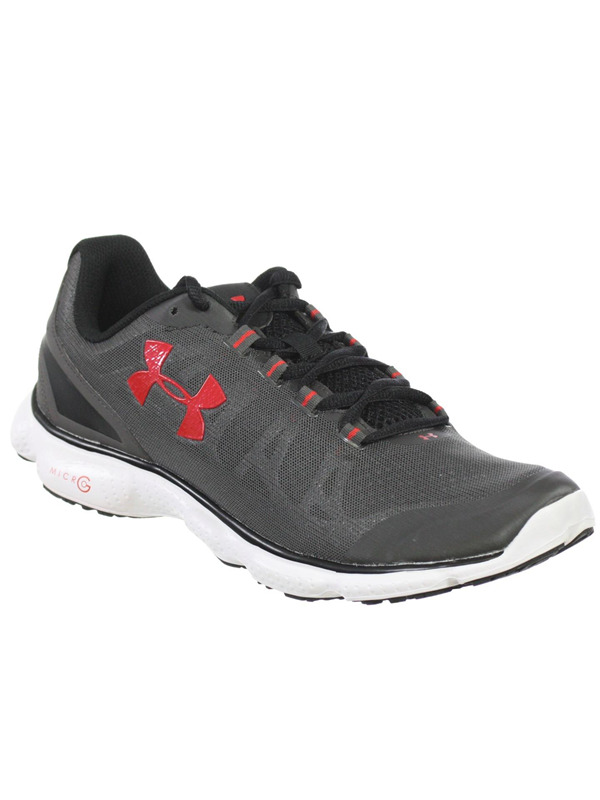 promo code 68ece 51ff1 Details about UNDER ARMOUR MENS ATHLETIC SHOES MICRO G ATTACK CHARCOAL  BLACK RED 9 M