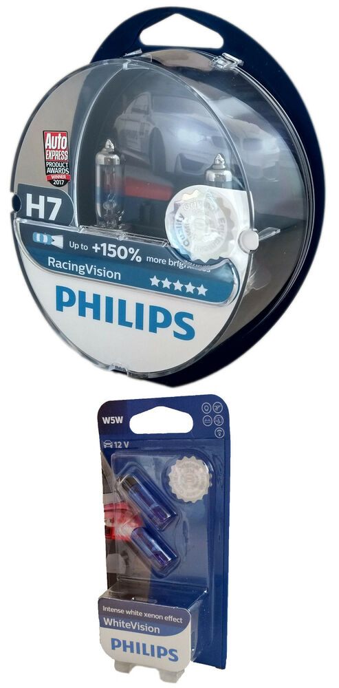 h7 philips racing vision 150 duo px26d w5w white. Black Bedroom Furniture Sets. Home Design Ideas