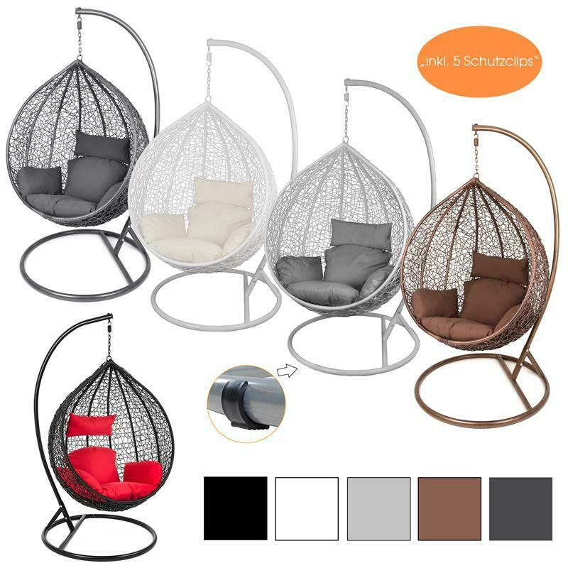 estexo h ngesessel mit gestell polyrattan h ngekorb h nge. Black Bedroom Furniture Sets. Home Design Ideas