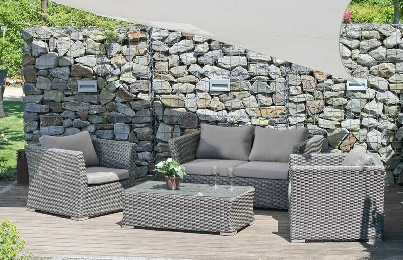 4tlg lounge gruppe garten terrasse sitzgruppe sitzecke. Black Bedroom Furniture Sets. Home Design Ideas