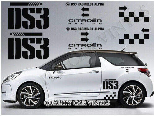 citroen ds3 side rally graphics decal stickers p50 ebay. Black Bedroom Furniture Sets. Home Design Ideas