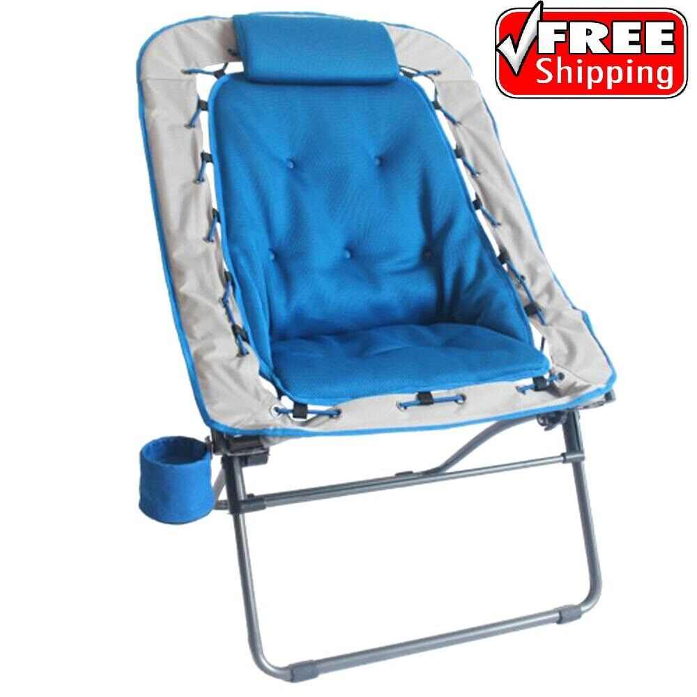 Folding Oversize Bungee Chair For Camping Hiking Outdoor