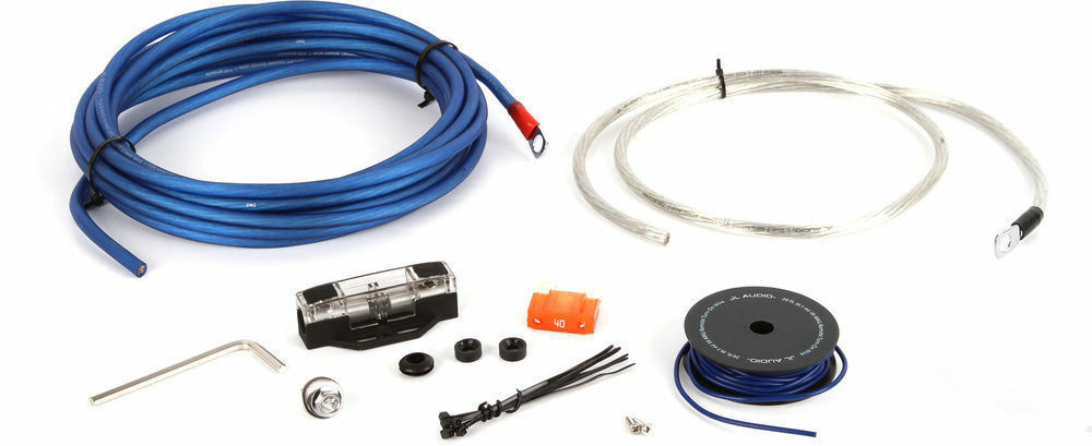 details about new jl audio xd-pcs8-1b 8 gauge car stereo amplifier install  kit amp power wire