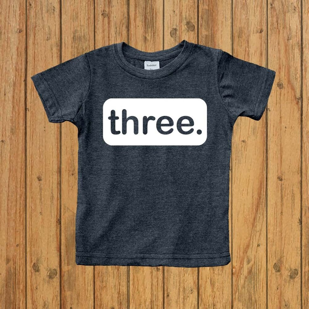 Details About Boys 3rd Birthday Shirt Three Years Old Boy 3