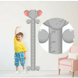ELEPHANT HEIGHT CHART sticker bedroom WALL ART BOY GIRL BABY DECAL GRAPHIC ROOM