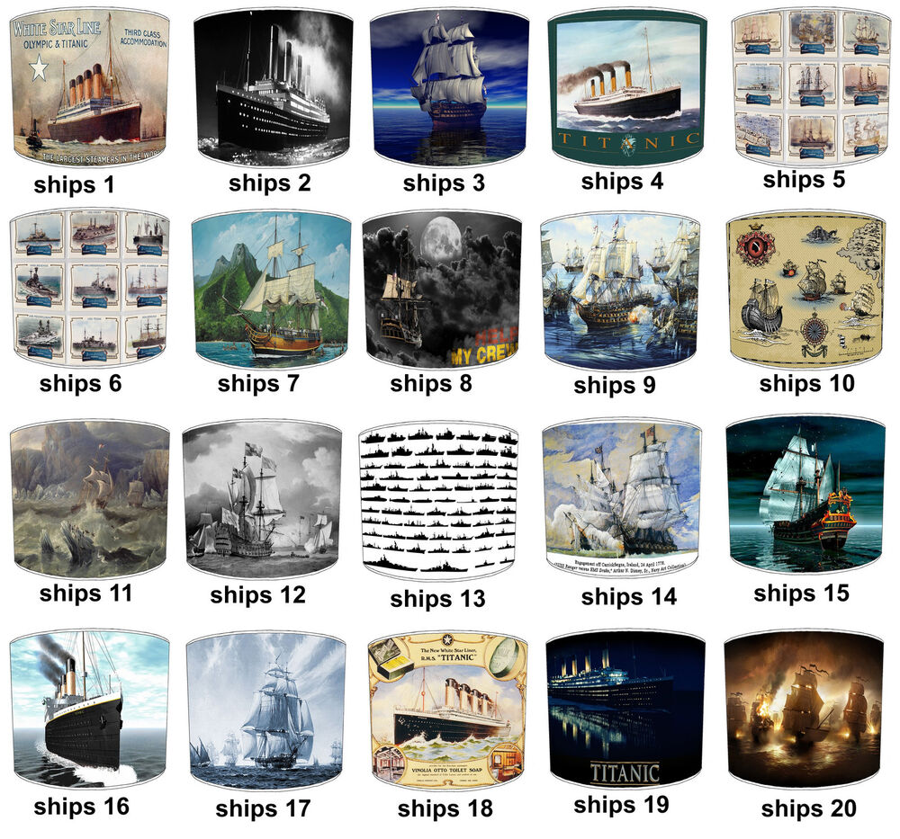 Titanic Lampshades Ideal To Match Vintage Ships Titanic Wall  # Muebles Titanic