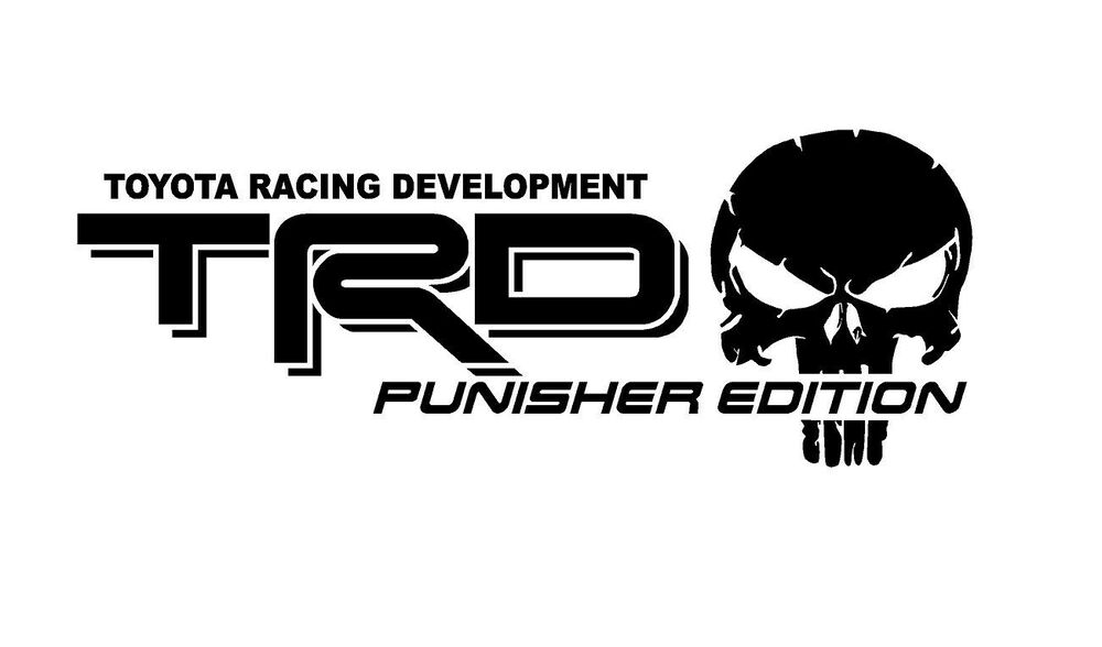 truck car decal -  2  trd punisher edition