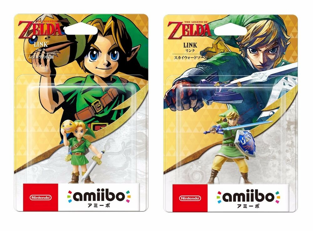 Amiibo Legend of Zelda Link Majora's Mask & Skyward Sword Nintendo JP | eBay