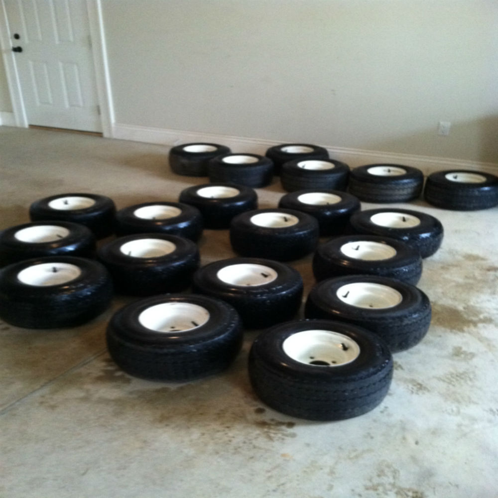 Used Set of 4 Golf Cart Tires and Rims For EZ GO Carts ...