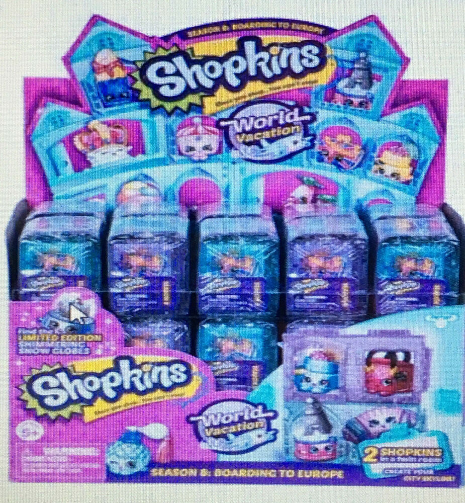 One Case Of 30 Shopkins Season 8 World Vacation 2 Pack Blind Bag Mystery Figure Ebay
