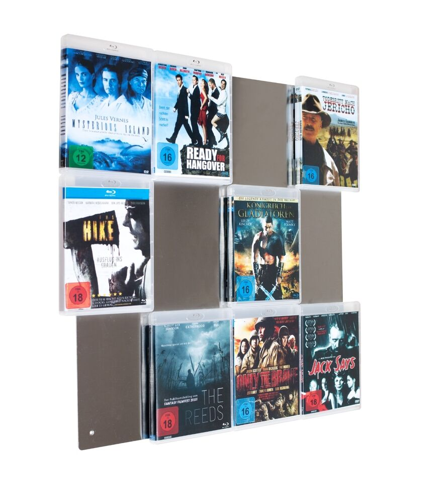 cd wall blu ray regal system ihre sch nsten blurays als wandbild 2 wahl ebay. Black Bedroom Furniture Sets. Home Design Ideas