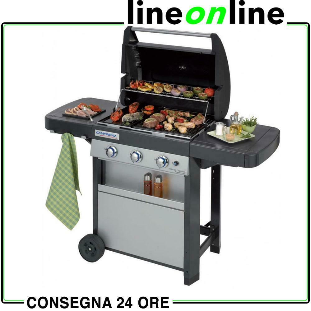 barbecue a gas campingaz 3 series classic l con forno piastra e griglia ebay. Black Bedroom Furniture Sets. Home Design Ideas