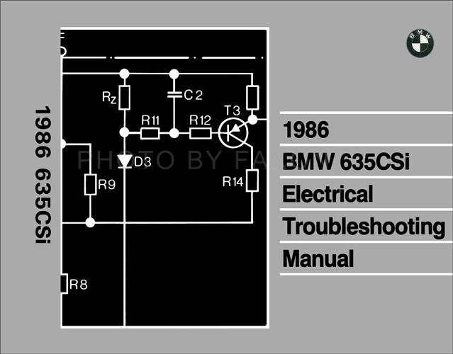1986 Bmw 635csi Electrical Troubleshooting Manual Wiring Diagrams Book 635 Csi