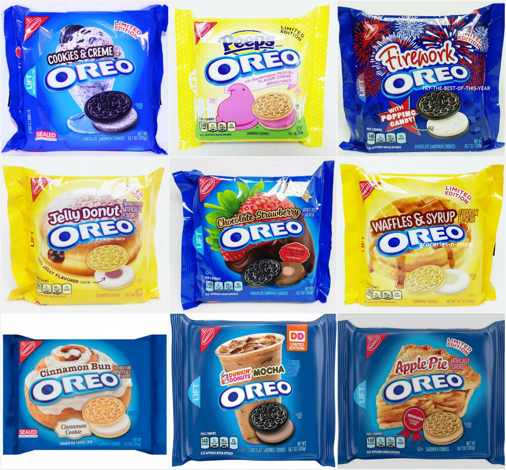 NEW Nabisco Oreo Sandwich Cookies LIMITED EDITION FLAVORS ...