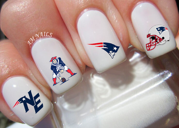 New England Patriots Nail Art Stickers Transfers Decals
