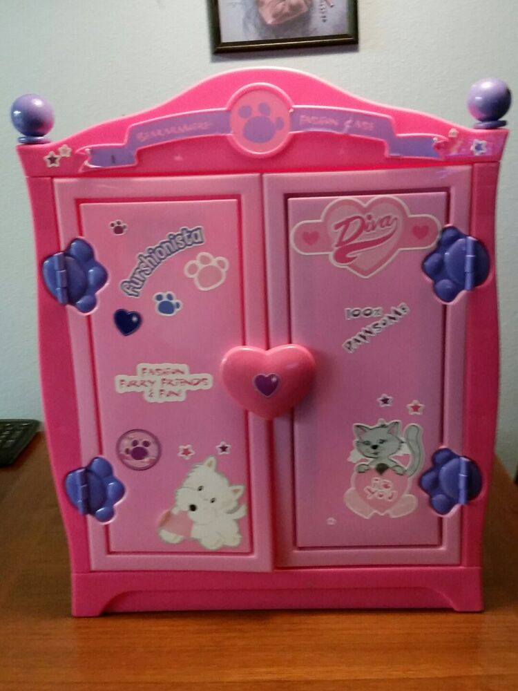 Build A Bear Beararmoire Fashion Case Closet Wardrobe Case