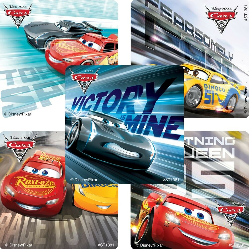 Details about cars 3 movie stickers x 5 cars stickers disney lightening mcqueen birthday