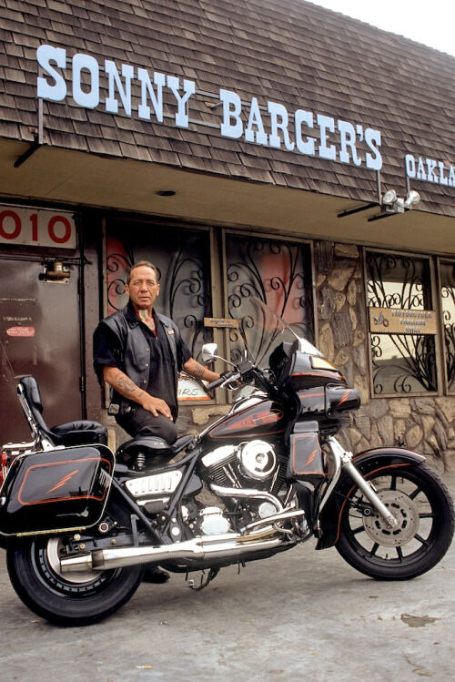 Hells Angels Boss Sonny Barger At His Oakland Bar 8.5x11 ...  Sonny Barger Hells Angels 1970