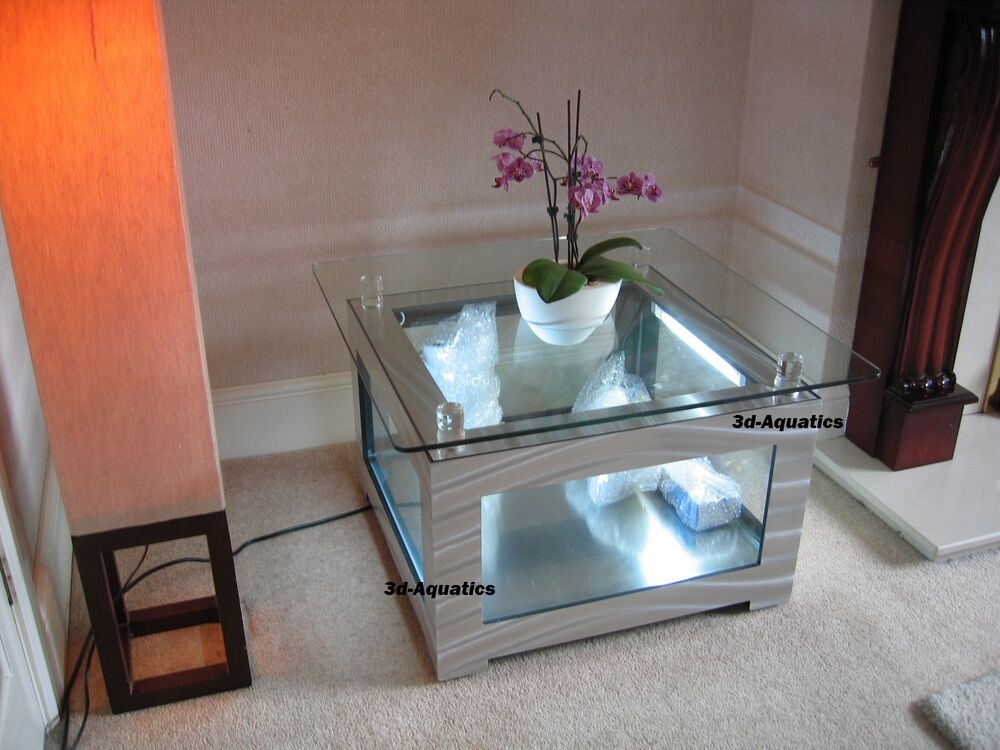 Designer Coffee Table Aquarium Glass Fish Tank Tropical Marine, In Stock,  New !! | EBay