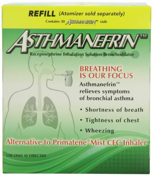 Asthmanefrin Asthma Medication Refill, 30 Count -Expiration Date Sept. 2019-