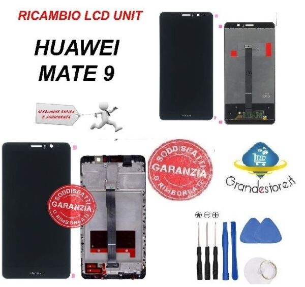LCD DISPLAY HUAWEI MATE 9 MHA-L29 SCHERMO FRAME TOUCH SCREEN ORIGINALE NERO