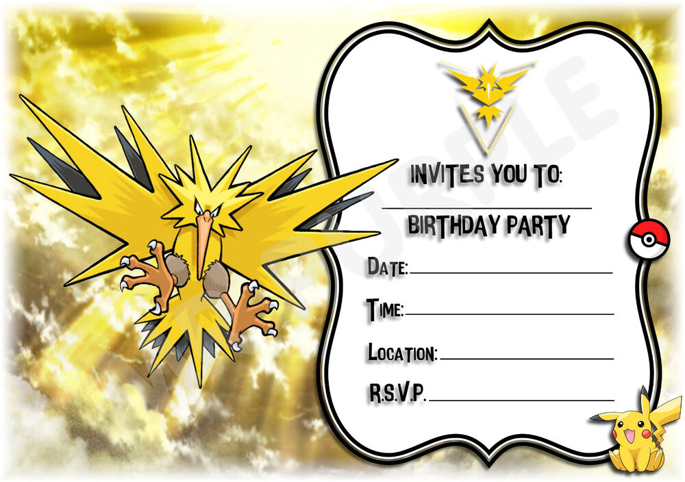 Details About A5 KIDS CHILDRENS PARTY INVITATIONS X 12