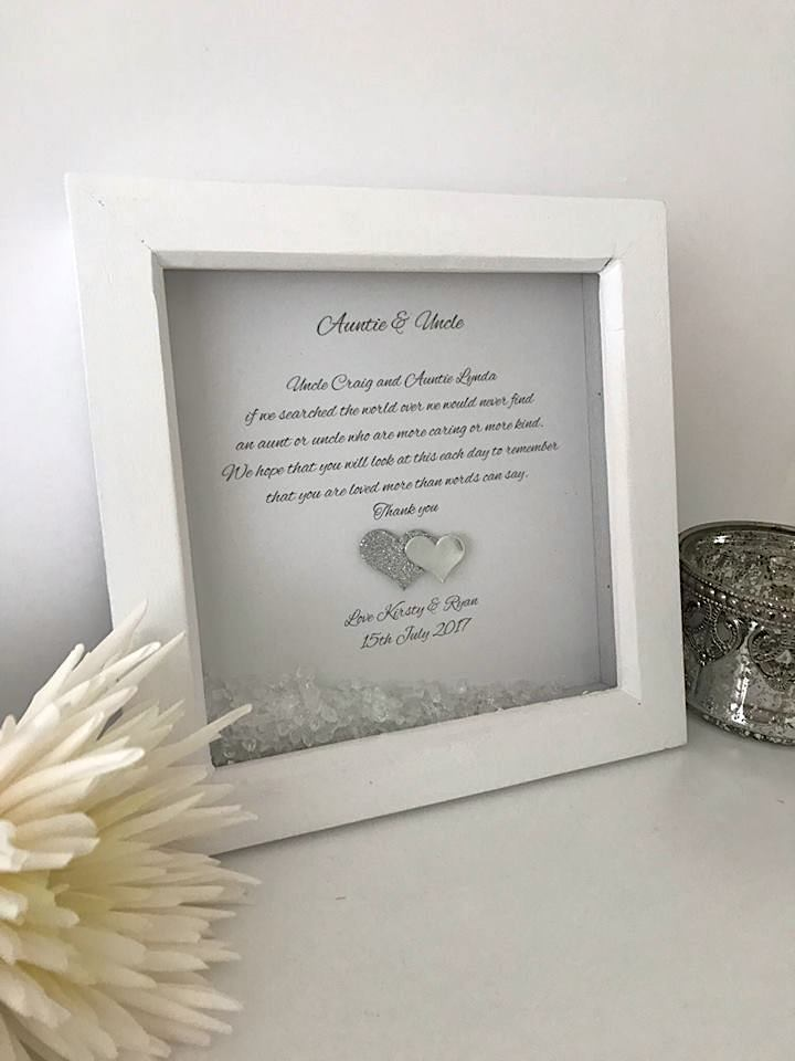 Auntie & Uncle Personalised Frame Keepsake and Giftware P184 | eBay