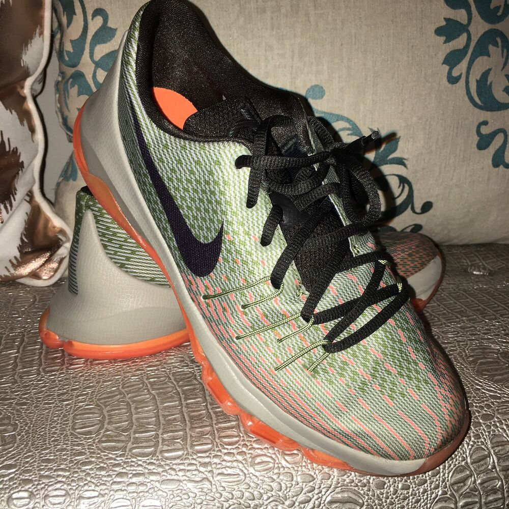 397bf3108628 Details about Nike KD 8 VIII GS Euro Green Orange Size 7Y DS Kevin Durant  Basketball Shoes