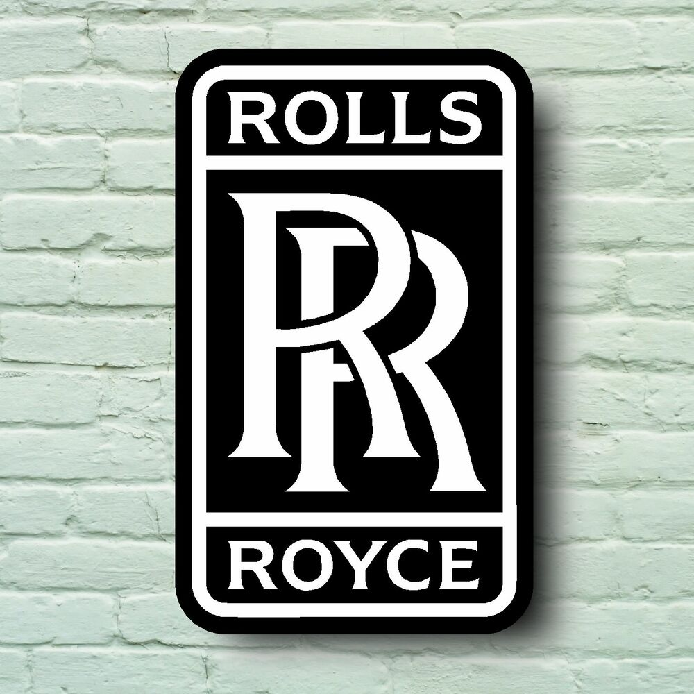 ROLLS ROYCE LOGO 2FT GARAGE SIGN WALL PLAQUE CLASSIC CAR