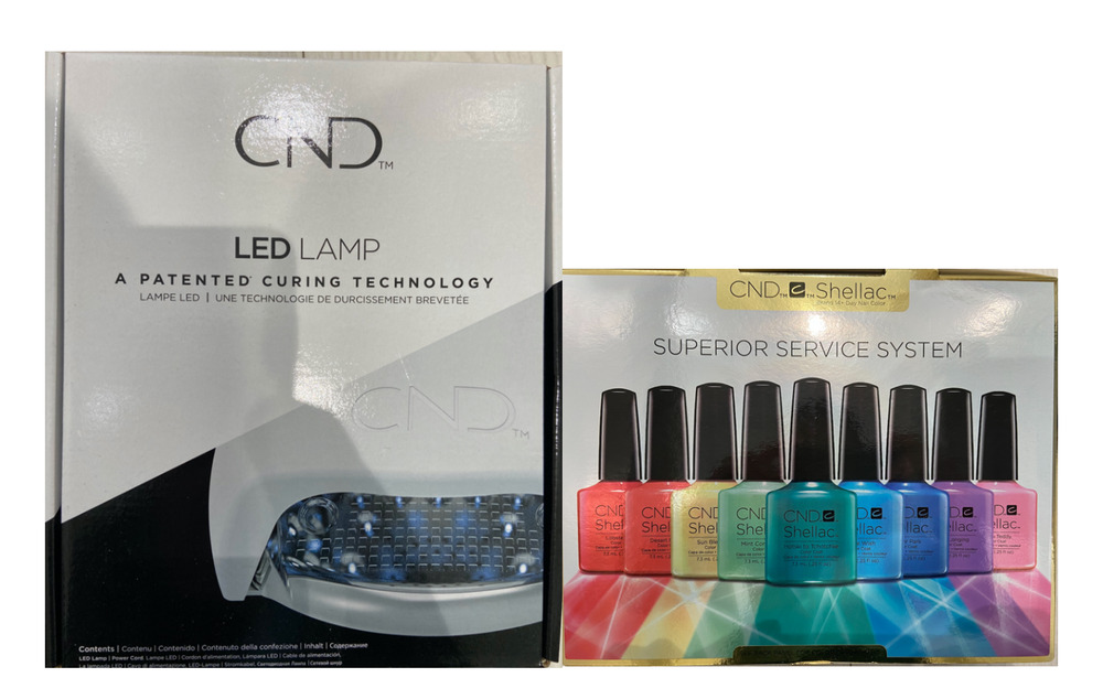 CND Shellac LED Lamp & CND Shellac Superior Service Kit The Complete ...