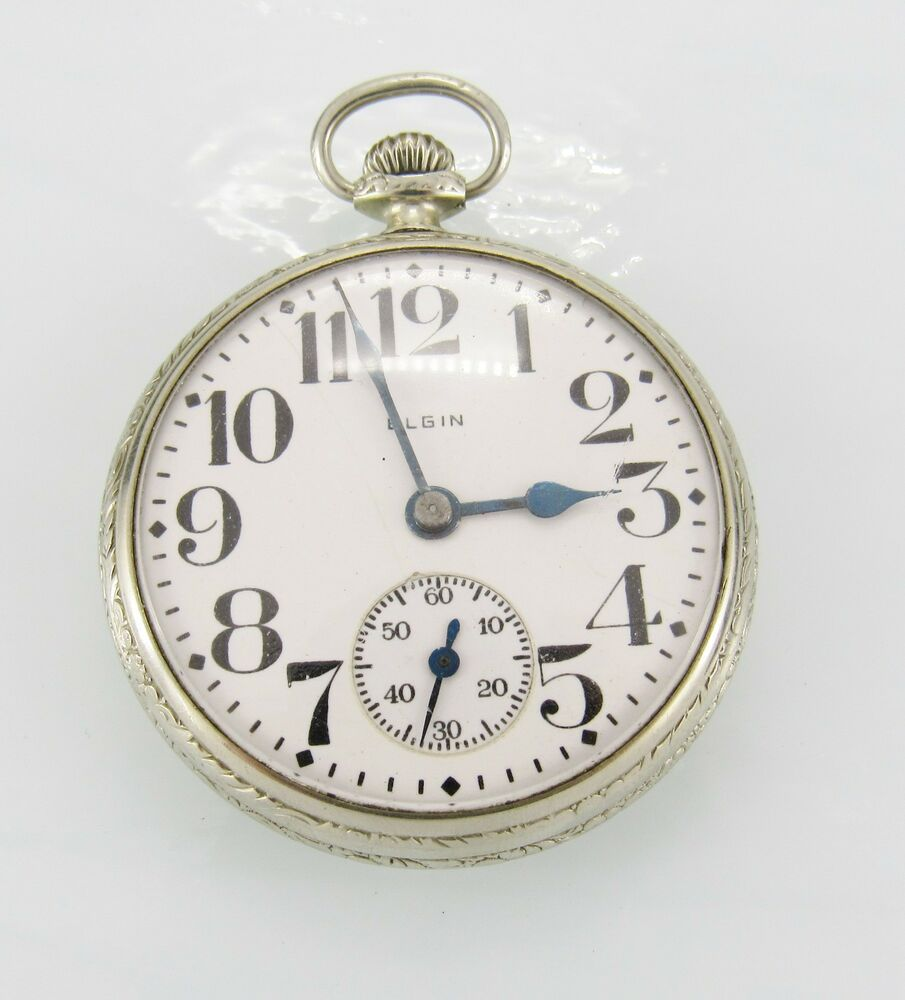 how to open elgin pocket watch