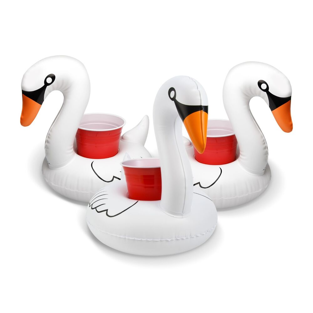 9de274037127 Details about GoFloats Floating White Swan Drink Floats (3-Pack): Float  your drinks in style!
