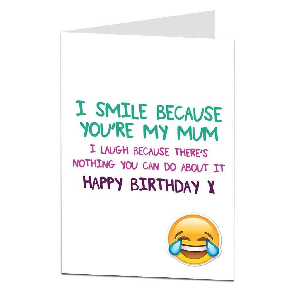 Happy Birthday Card For Mum Funny Joke Perfect For Mum's