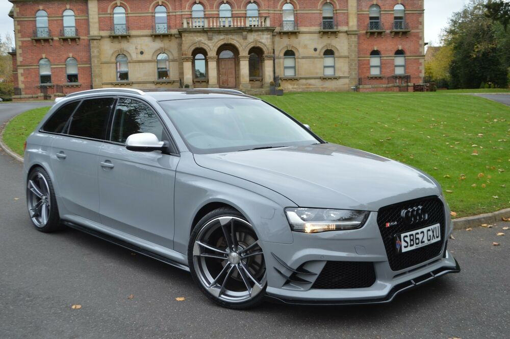 audi rs4 full body kit for audi a4 b8 avant estate ebay. Black Bedroom Furniture Sets. Home Design Ideas