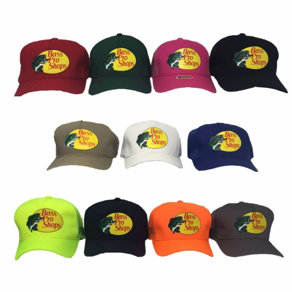 23bd51b1945 Details about Bass Pro Shops Hat Mesh Adjustable SnapBack Trucker Baseball  Fishing Outdoor Cap