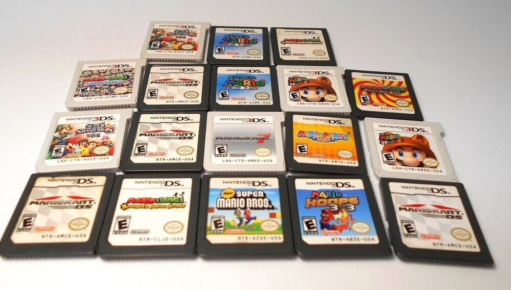 Nintendo ds & 3ds MARIO games go select title lite dsi xl ...