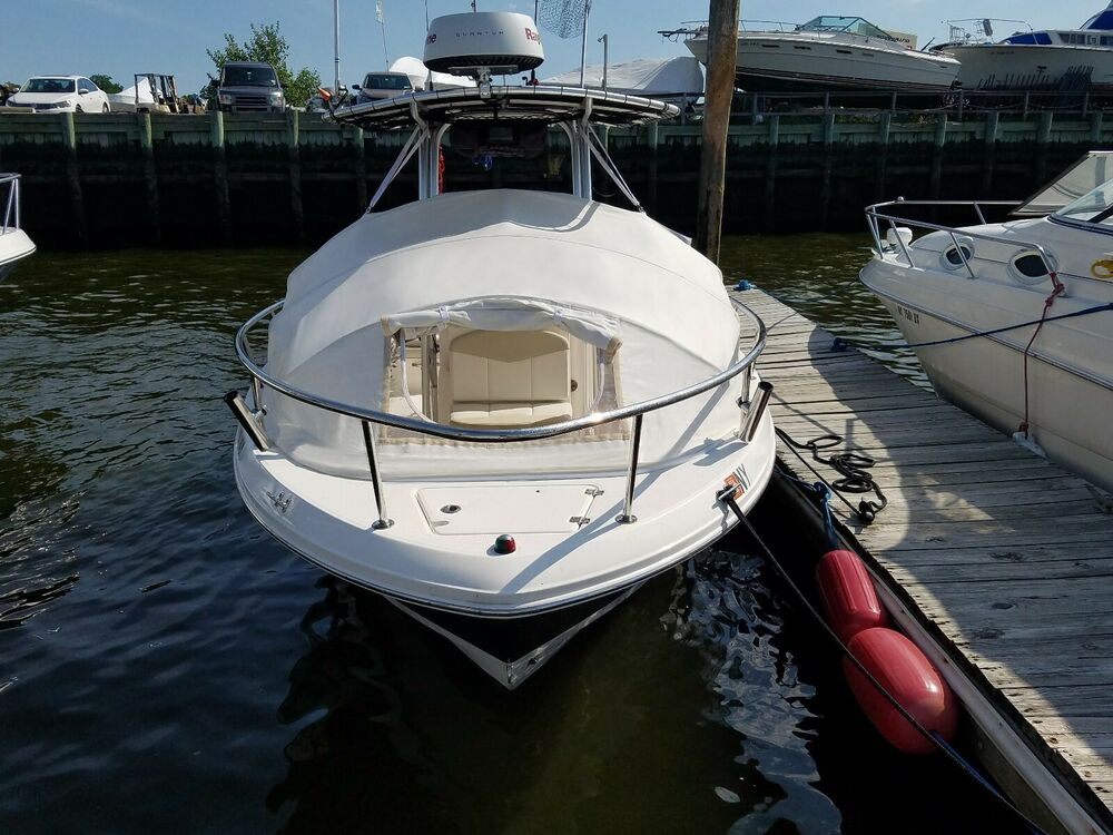 Boat Tent Cover : Robalo shade center console boat bow dodger tent