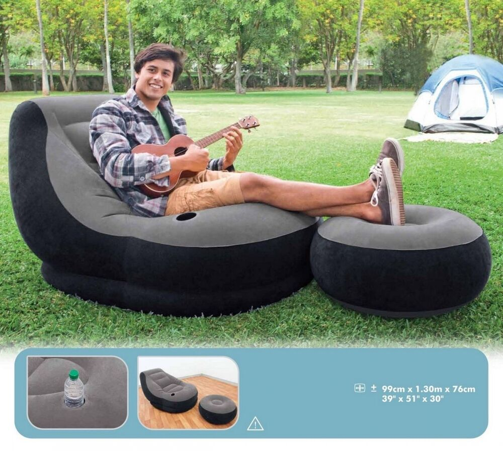 Large Video Gaming Chair Inflatable Intex Ultra Lounge