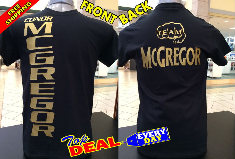 Conor Mcgregor T Shirt Notorious Floyd Mayweather Boxing Front And