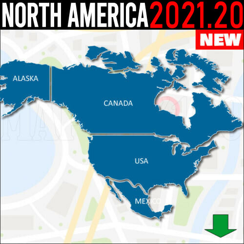 north america map usa canada mx gps 2018 30 for garmin devices latest map