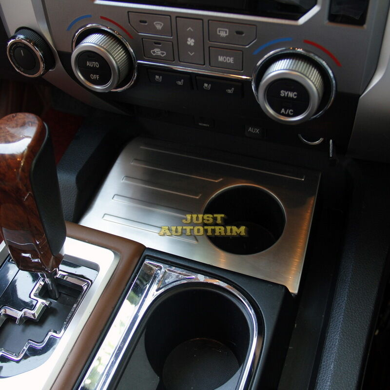 1794 Toyota Tundra >> Steel Interior dashboard Cup panel cover trim for 2014 ...