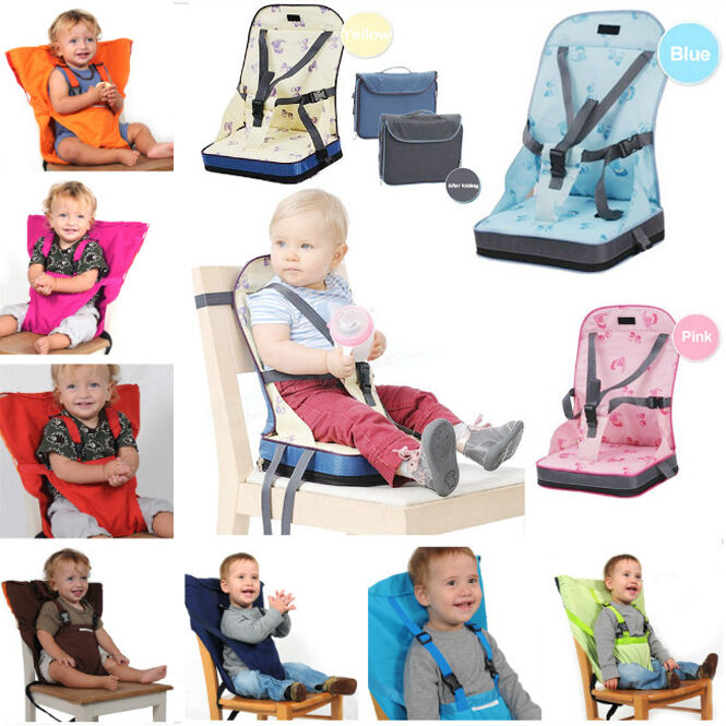 cdaf9d661063 Details about Foldable Portable Baby Toddler Infant Dining Chair Booster  Seat Bag Travel Chair