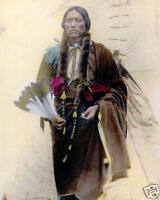 """QUANAH PARKER NATIVE AMERICAN INDIAN COMANCHE 1909 8x10"""" HAND COLOR TINTED PHOTO"""