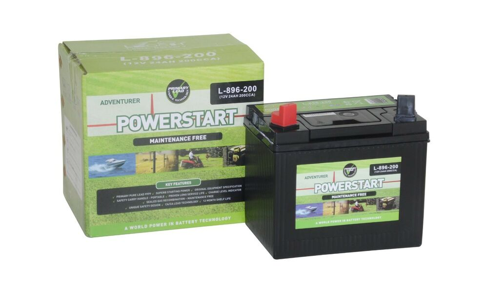 leoch premium mower battery 896 12v 24ah mini tractor. Black Bedroom Furniture Sets. Home Design Ideas