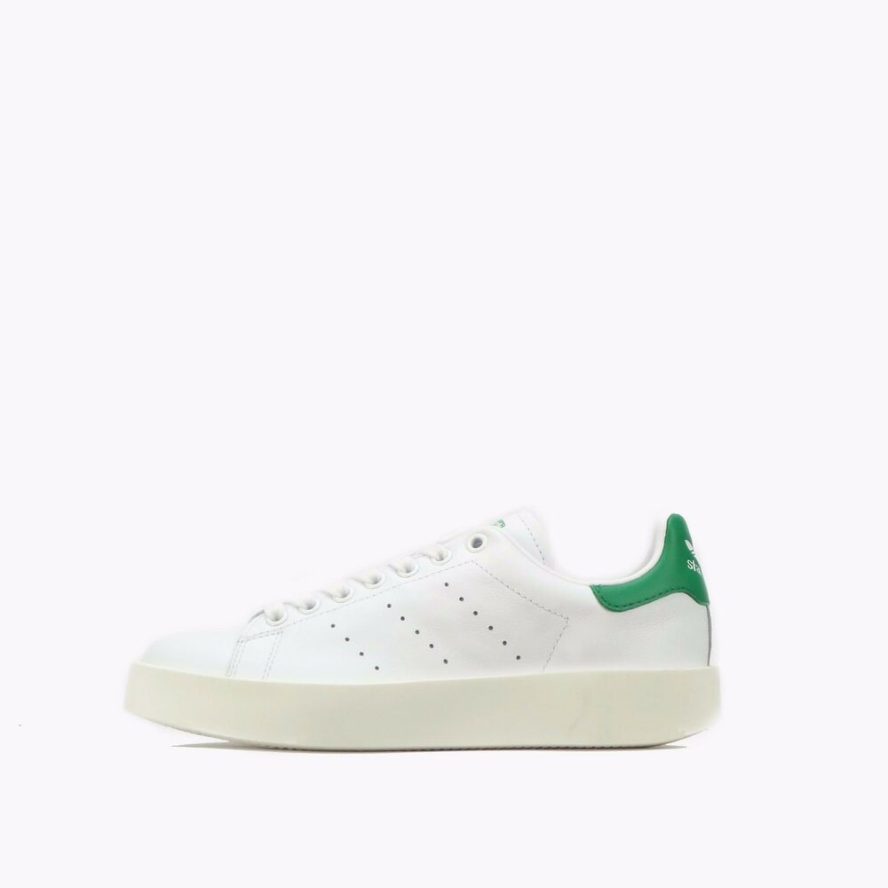 buy popular f09eb 4afb4 Details about adidas Originals Stan Smith Bold Women s Shoes White Green