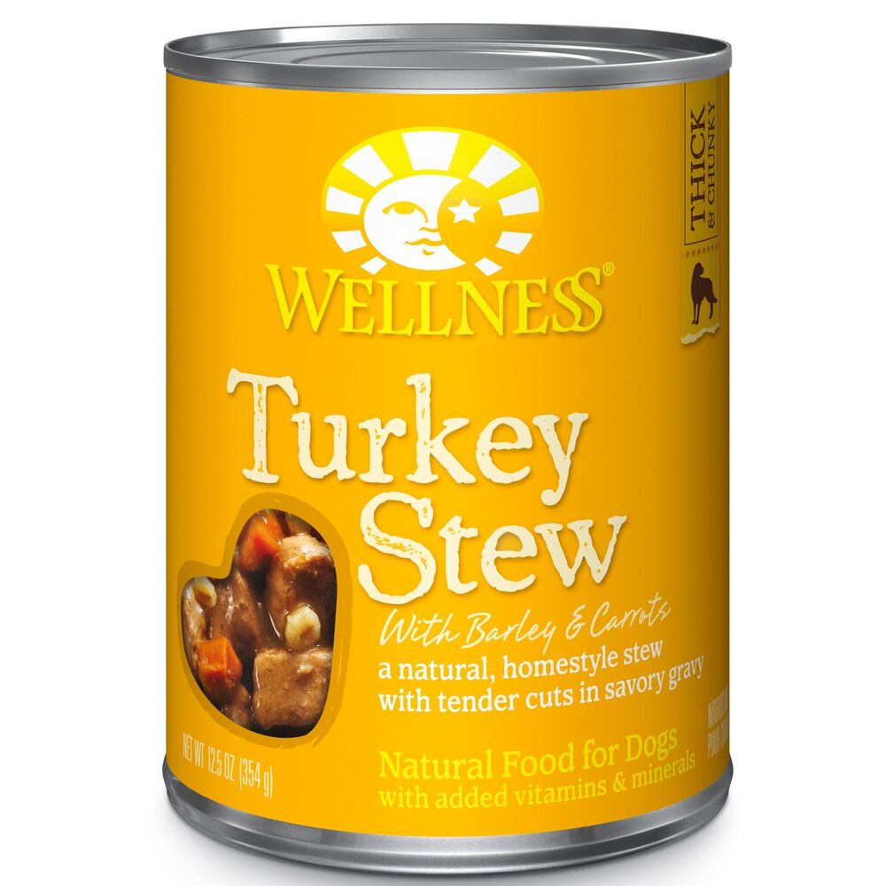 Wellness Thick Chunky Natural Wet Canned Dog Food Turkey