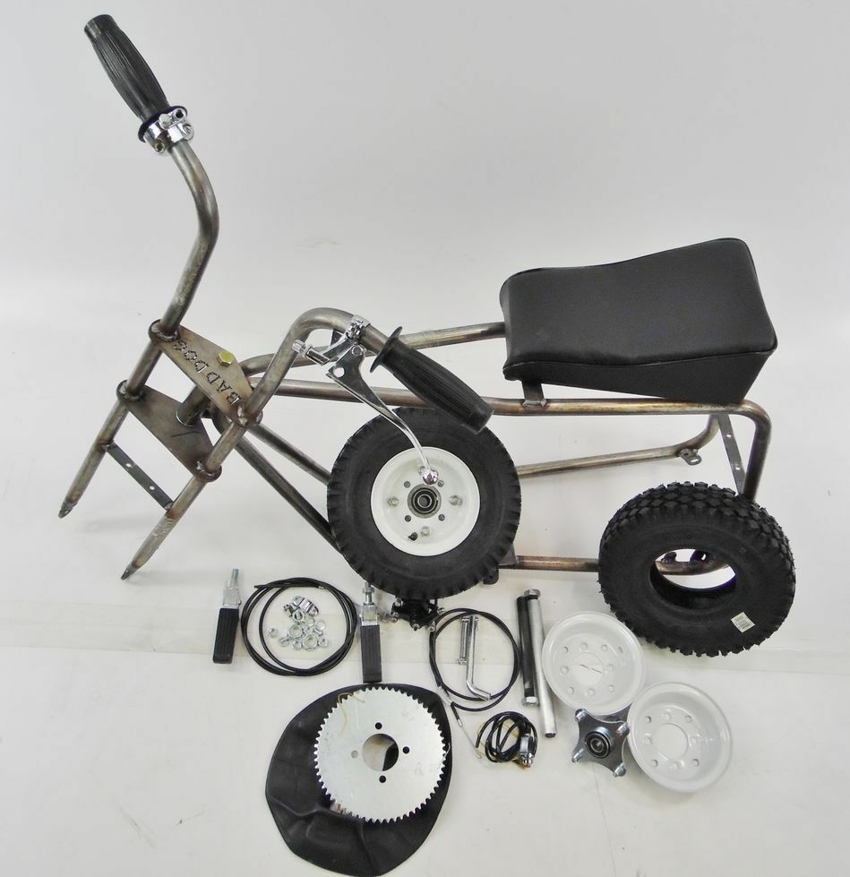 bad dog mini bike minibike frame studded 6 wheel kit complete ebay. Black Bedroom Furniture Sets. Home Design Ideas