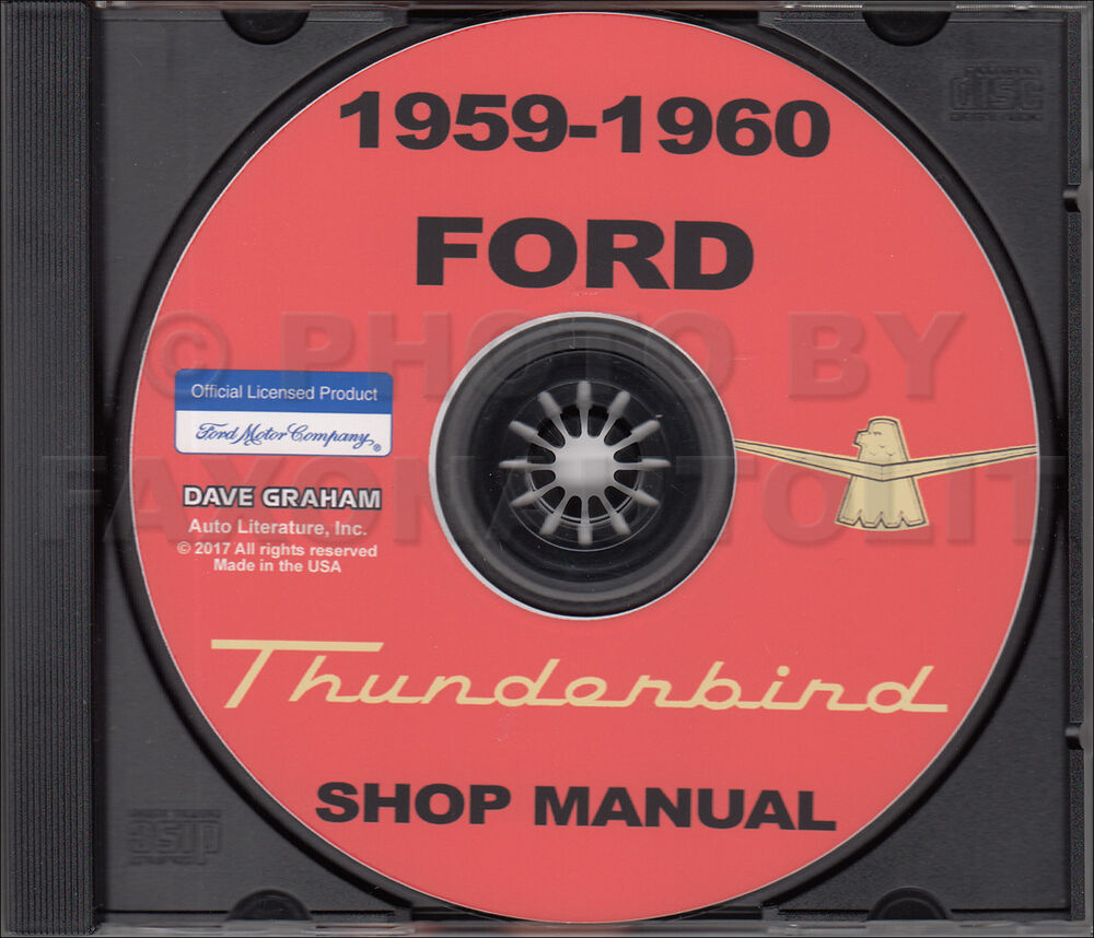 1959 1960 Ford Thunderbird Shop Manual on CD-ROM T bird Repair Service  Wiring | eBay