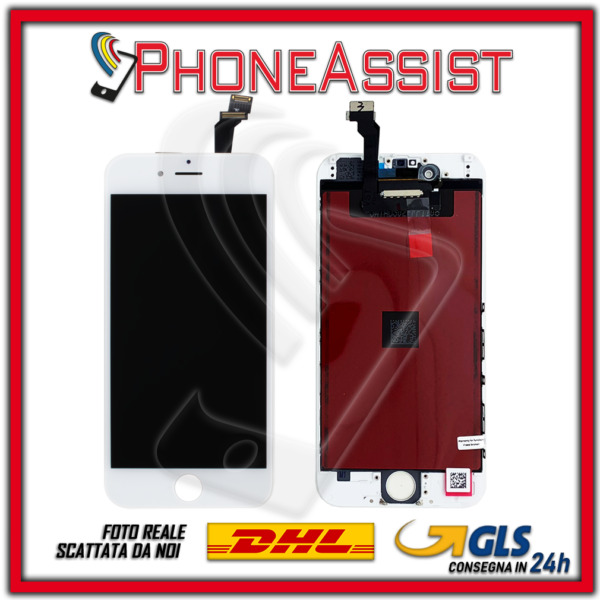 DISPLAY LCD VETRO TOUCH Apple iPhone 6 SCHERMO 6G ORIGINALE TIANMA Bianco